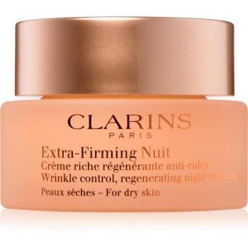 Clarins Extra-Firming crema de noapte pentru fermitate si contur ten uscat