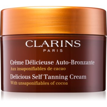 Clarins Delicious Self Tanning Cream lotiune autobronzanta pentru corp si fata cu unt de cacao