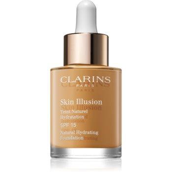 Clarins Skin Illusion Natural Hydrating Foundation makeup radiant cu hidratare SPF 15