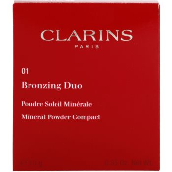 Clarins Face Make-Up Bronzing Duo pudra bronzanta cu minerale 3