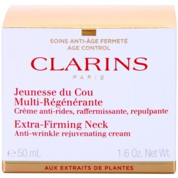 Clarins Extra-Firming Стягащ крем против бръчки за шия и деколте 2