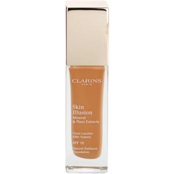 Fotografie Clarins Face Make-Up Skin Illusion rozjasňující make-up pro přirozený vzhled SPF 10 odstín 113 Chestnut 30 ml