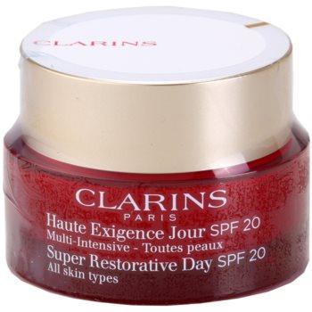 Clarins Super Restorative Day crema anti-rid pentru toate tipurile de ten SPF 20 poza