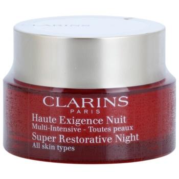 Fotografie Clarins Super Restorative noční krém proti všem projevům stárnutí pro všechny typy pleti 50 ml