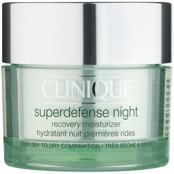 Clinique Superdefense Night crema de noapte hidratanta impotriva primelor semne de imbatranire ale pielii