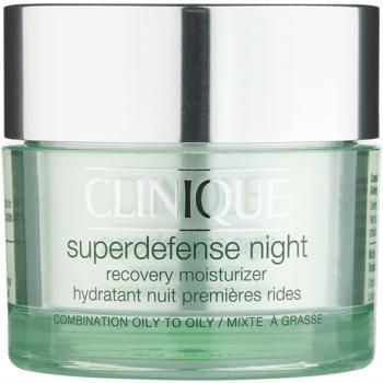 Clinique Superdefense nawilżający krem przeciwzmarszczkowy na noc do skóry tłustej i mieszanej