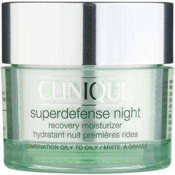 Clinique Superdefense Night Crema de noapte hidratanta anti-rid pentru ten gras și mixt