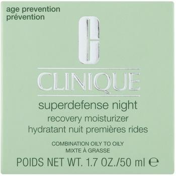 Clinique Superdefense зволожуючий нічний крем проти зморшок для комбінованої та жирної шкіри 2