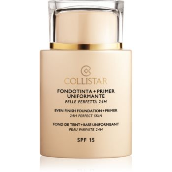 Collistar Even Finish Foundation+Primer 24h Perfect Skin bază de machiaj SPF 15