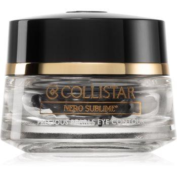 Collistar Nero Sublime® Precious Pearls Eye Contour ser de ochi pentru fermitate în capsule imagine produs