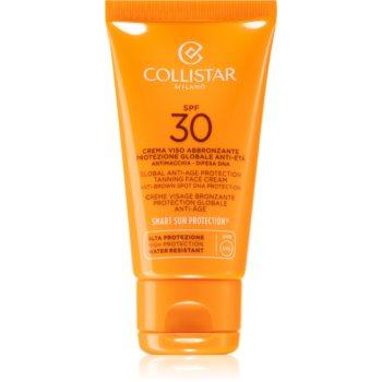 Fotografie Collistar Sun Protection krém na opalování proti stárnutí pleti SPF 30 50 ml