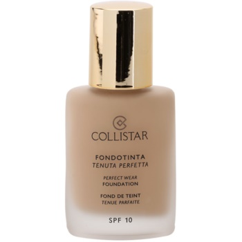Collistar Foundation Perfect Wear fard lichid rezistent la apa SPF 10
