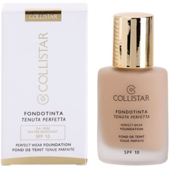 Collistar Foundation Perfect Wear fard lichid rezistent la apa SPF 10 2