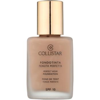 Fotografie Collistar Foundation Perfect Wear voděodolný tekutý make-up SPF 10 odstín 7 Caramel 30 ml