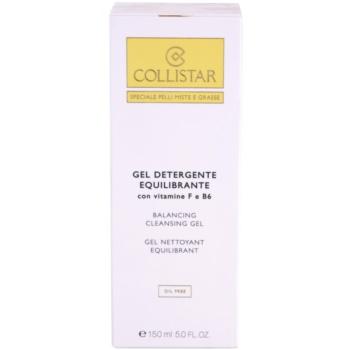 Collistar Special Combination And Oily Skins čisticí gel s vitamínem F a B6 2