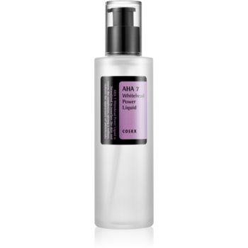 Cosrx AHA7 Whitehead Power Liquid esenta exfolianta pentru piele cu hiperpigmentare