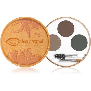 Couleur Caramel Eyebrow Kit paleta pentru machiaj sprancene