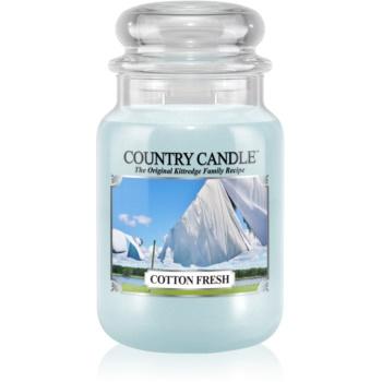 Country Candle Cotton Fresh lumanari parfumate 652 g