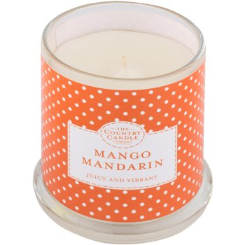 Country Candle Mango Mandarin Scented Candle   in Glass Jar with Lid 1