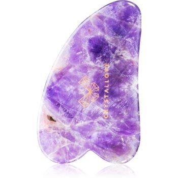 Crystallove Amethyst Gua Sha Plate accesoriu de masaj poza noua
