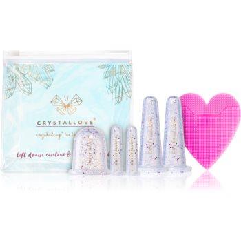 Crystallove Crystalcup set de cosmetice pentru fata si corp poza noua