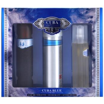 Cuba Blue dárková sada II. toaletní voda 100 ml + voda po holení 100 ml + deodorant ve spreji 200 ml