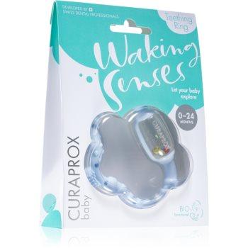 Curaprox Baby Waking Senses inel pentru dentitie cu perie ce maseaza gingia