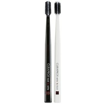 Curaprox Black is White Periuțe de dinți ultra soft 2 pc Black & White (5460 Curen, Filaments 0,12 mm)