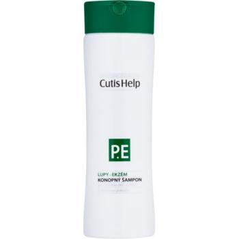 Fotografie CutisHelp Health Care P.E - Lupy- Ekzém konopný šampon při projevech ekzému a proti lupům 200 ml