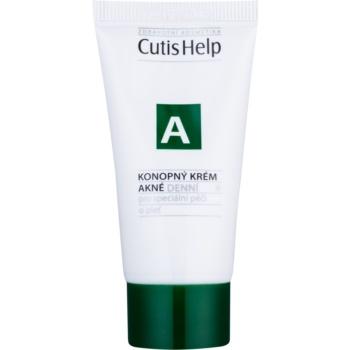 CutisHelp Health Care A - Acne crema de zi cu canepa pentru ten acneic