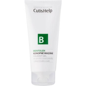 Fotografie CutisHelp Health Care B - Mentolen konopný chladivý gel s mentolem na svaly a klouby 200 ml
