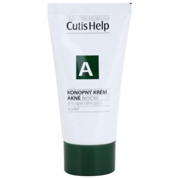 Fotografie CutisHelp Health Care A - Akné konopný noční krém pro problematickou pleť, akné 30 ml