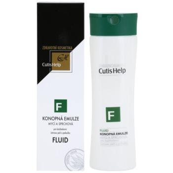 CutisHelp Health Care F - Fluid Dusch - und Reinigungsemulsion mit Hanf zur täglichen Anwendung 1