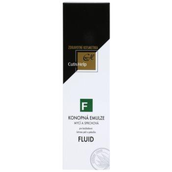 CutisHelp Health Care F - Fluid Dusch - und Reinigungsemulsion mit Hanf zur täglichen Anwendung 2