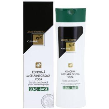 CutisHelp Health Care Sensi-Base konopljina micelarna gelasta voda za občutljivo in alergično kožo 1