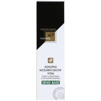 CutisHelp Health Care Sensi-Base konopljina micelarna gelasta voda za občutljivo in alergično kožo 2