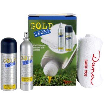 Dana Golf Sport set cadou I.  Apa de Toaleta 200 ml + Deo-Spray 200 ml + prosop 48,5 x 77 cm