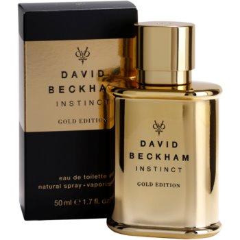 David Beckham Instinct Gold Edition Eau de Toilette para homens 1