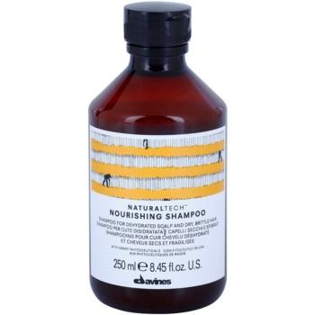 Fotografie Davines Naturaltech Nourishing šampon pro dehydratovanou pokožku hlavy a suché křehké vlasy 250 ml