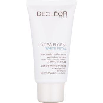 Decléor Hydra Floral White Petal mască de noapte hidratantă, pentru un ten perfect