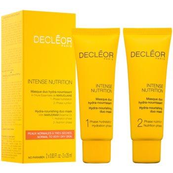 Fotografie Decléor Intense Nutrition hydratační a vyživující pleťová maska duo 2 x 25 ml