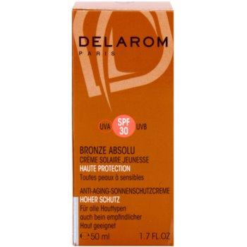 Delarom Bronze Absolu антивіковий відновлюючий крем SPF 30 2