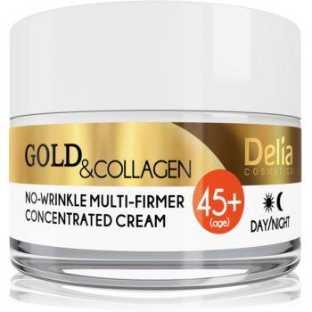 Delia Cosmetics Gold & Collagen 45+ crema fermitate anti-rid