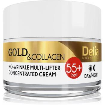 Delia Cosmetics Gold & Collagen 55+ crema anti-rid cu efect lifting poza noua