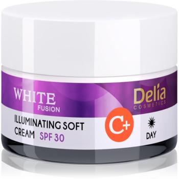 Delia Cosmetics White Fusion C+ crema de zi radianta pentru piele hiperpigmentata SPF 30