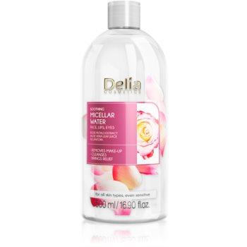Delia Cosmetics Micellar Water Rose Petals Extract Demachiant calmant micelara de apa imagine produs