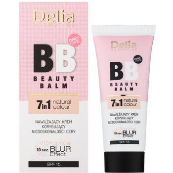 Delia Cosmetics Optical Blur Effect Beauty Balm feuchtigkeitsspendende BB Creme gegen kleine Makel der Haut SPF 15 1
