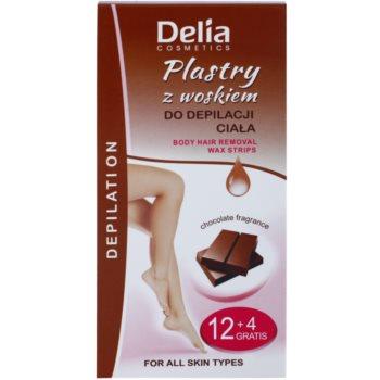Delia Cosmetics Depilation Chocolate Fragrance benzi depilatoare cu ceara rece pentru corp