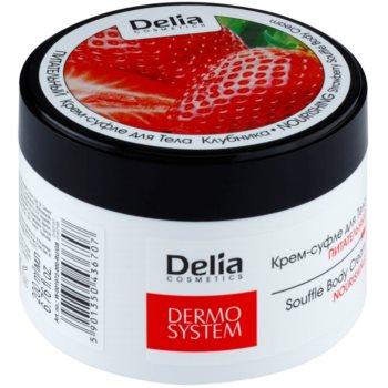 Delia Cosmetics Dermo System nährende Körpercrem mit Erdbeerduft
