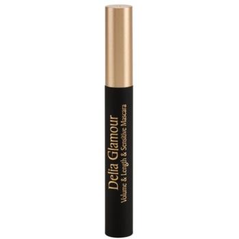 Delia Cosmetics Glamour maskara za volumen in podaljšanje trepalnic za občutljive oči 1